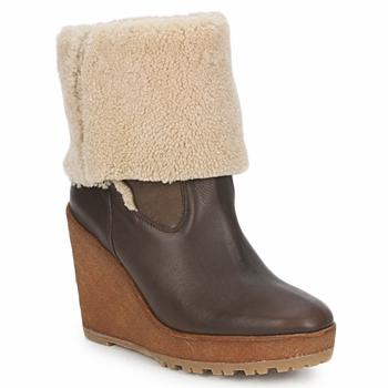 Schuhe Damen Low Boots Pare Gabia NELICE Schokolade