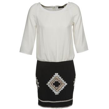 Vêtements Femme Robes courtes One Step RAMBOUTAN Blanc / Noir