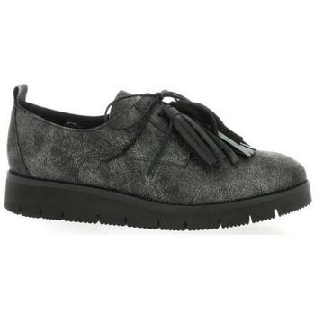 Chaussures Femme Derbies Reqin's Derby cuir laminé Noir