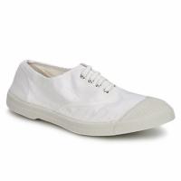 Schuhe Damen Sneaker Low Bensimon TENNIS LACET Weiß
