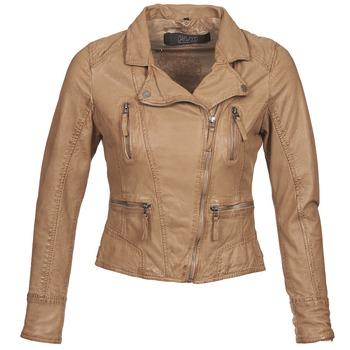 Kleidung Damen Lederjacken / Kunstlederjacken Oakwood CAMERA Cognac