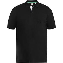 Vêtements Homme Polos manches courtes Duke D555 Noir