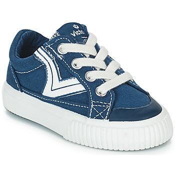 Chaussures Enfant Baskets basses Victoria TRIBU LONA RETRO Bleu