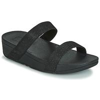 Schuhe Damen Pantoffel FitFlop LOTTIE GLITZY SLIDE Schwarz