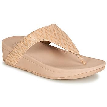 Schuhe Damen Zehensandalen FitFlop LOTTIE CHEVRON SUEDE Rose