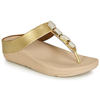 Schuhe Damen Sandalen / Sandaletten FitFlop FINO SHELLSTONE Gold