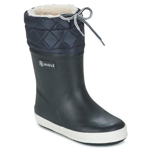 Chaussures Enfant Bottes de neige Aigle GIBOULEE Marine / Blanc