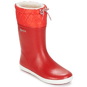 Scarpe Unisex bambino Stivali da neve Aigle GIBOULEE Rosso / Bianco